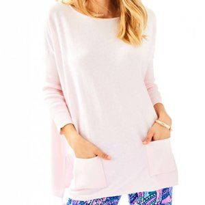 LILLY PULITZER Elba Paradise Pink Pullover Sweater
